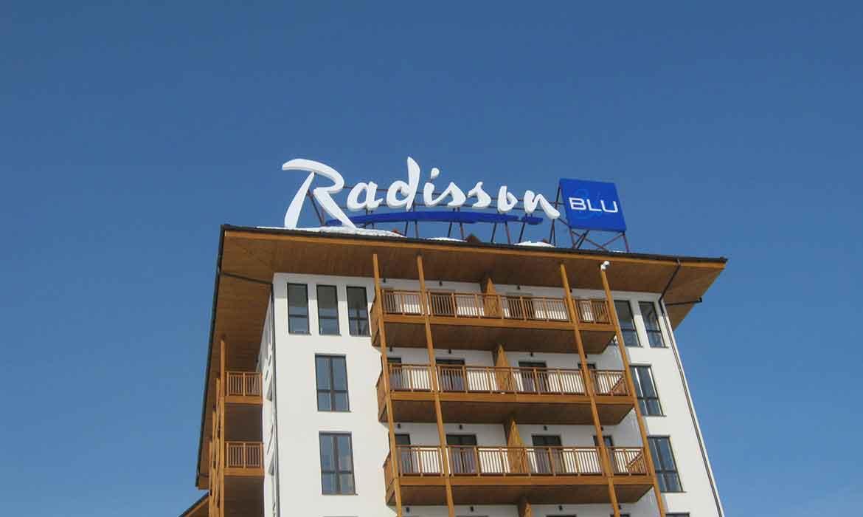 "Крышная установка ""Radisson Blu"""