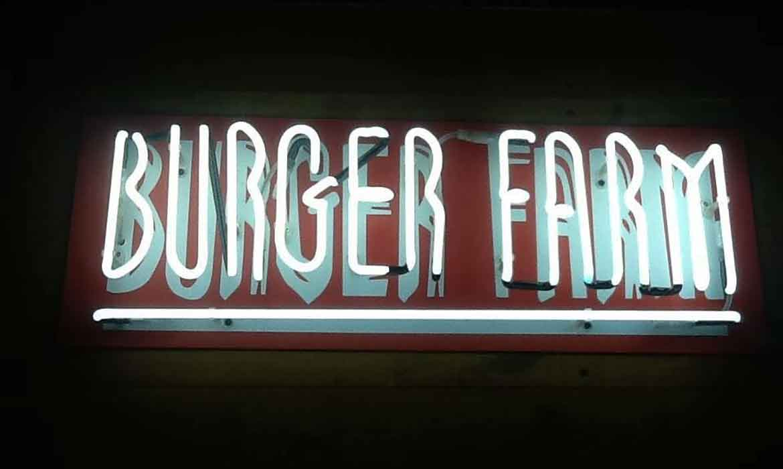 """Неоновая вывеcка """"Burger farm"""""""