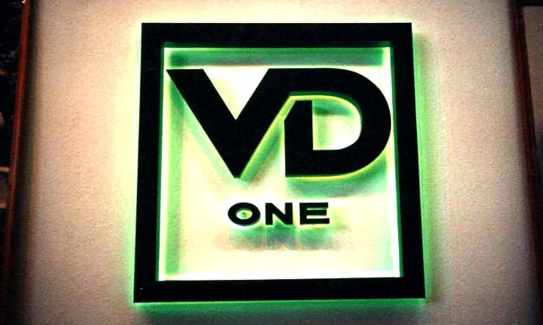 """Объемные буквы """"VD one"""""""