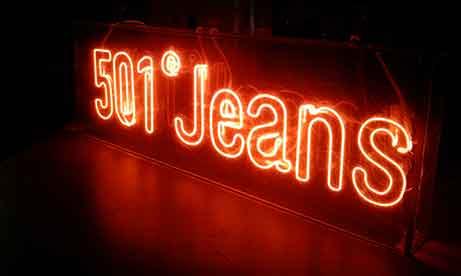 Неоновая вывеска 501® Jeans для Levi's (миниатюра)