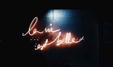 """Красный неон """"La Vie Est Belle"""" для """"Lancome"""" (миниатюра)"""