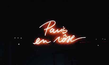 """Красный неон """"Paris en Rose"""" для """"Lancome"""" (миниатюра)"""