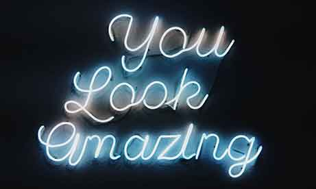 "Синий неон ""You Look Amazing"" (миниатюра)"