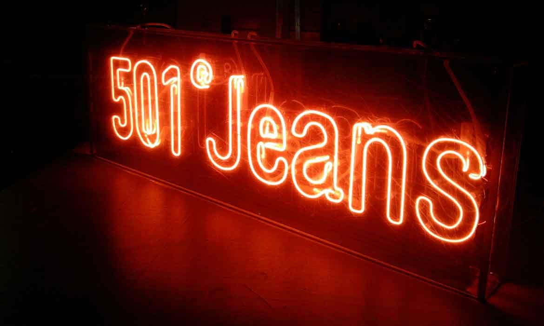 Неоновая вывеска 501® Jeans для Levi's