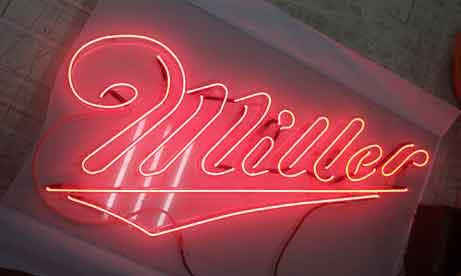 """Красный неон """"Miller"""" (миниатюра)"""