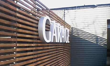 """Настенные буквы автомойки """"Garage"""" (миниатюра)"""