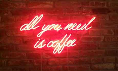 "Неоновая надпись ""all you need is coffee"" (миниатюра)"