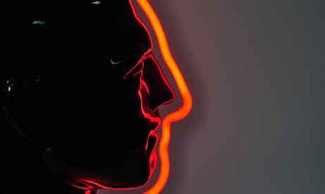Красный неон голова (миниатюра)