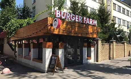 """Объемные световые буквы и двухсторонний лайтбокс """"Burger Farm"""" (миниатюра)"""