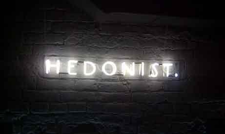 """Неоновая надпись для гастрономического бара """"Hedonist"""" (миниатюра)"""