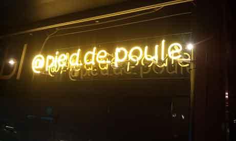 """Неоновая вывеска для салона красоты """"@pied.de.poule"""" (миниатюра)"""