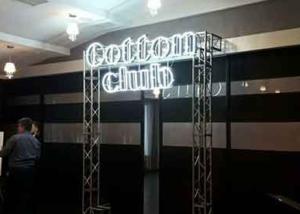 """Неон, буквы из композита на металлоконструкции """"Cotton Club"""" (миниатюра)"""