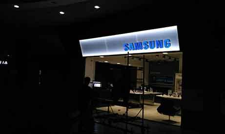"""Вывеска """"Samsung""""в ТРЦ """"ПортCity"""" Мариуполь (миниатюра)"""