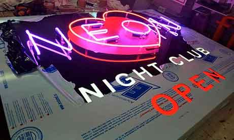 "Лайтбокс наружный ""Night Club NEON"" (миниатюра)"