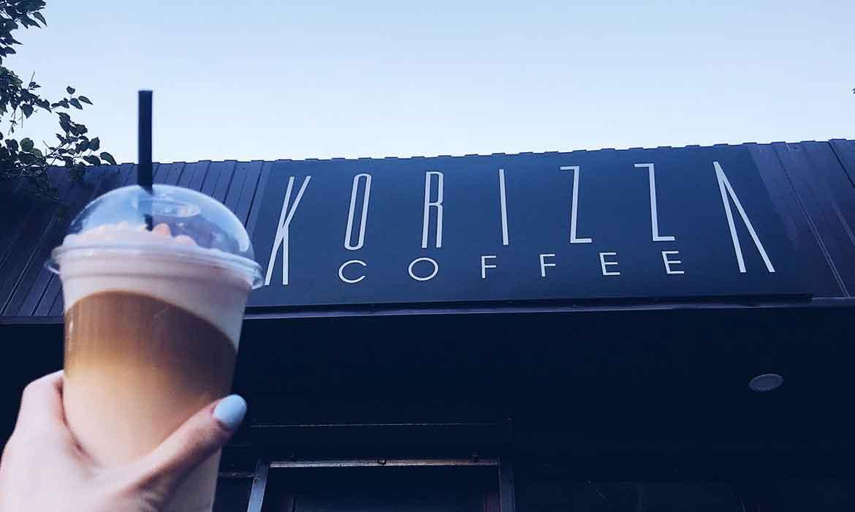 "Выевеска кафе ""Korizza Coffee"""