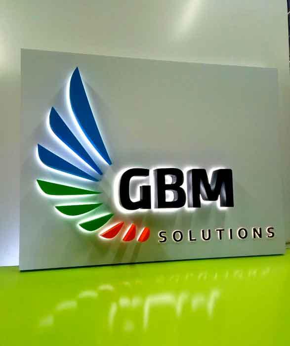 """Буква реклама """"GBM Solutions"""""""