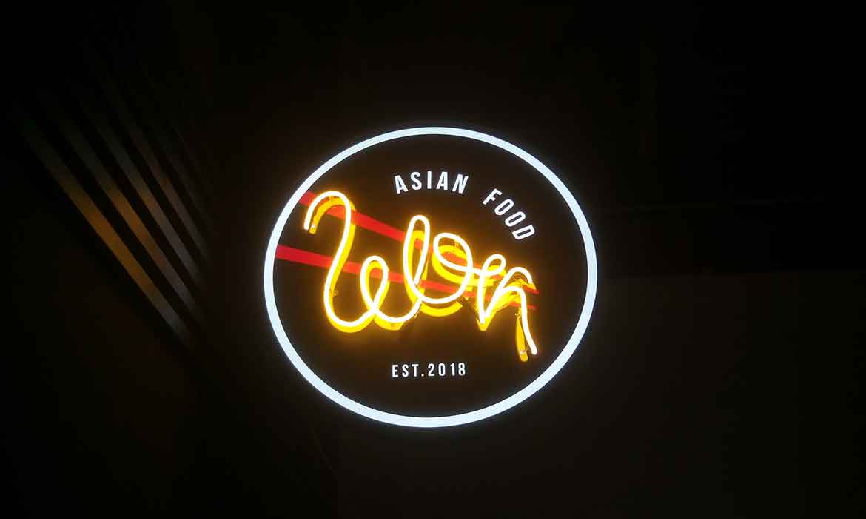 Торцевой лайтбокс «Asian Food» в ТРЦ «Lavina Mall»