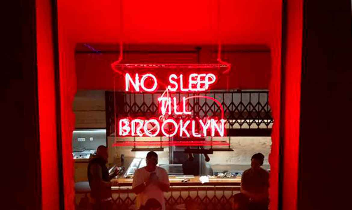 "Neon ""No Sleep Till Brooklyn"""
