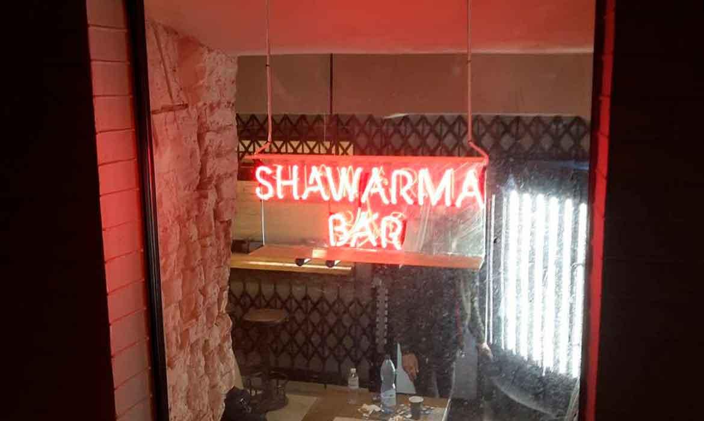 """Neon """"Shawarma Bar"""""""