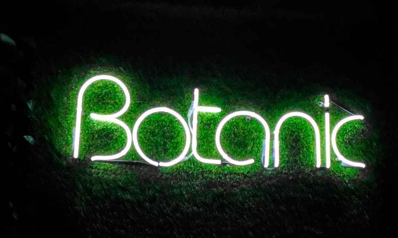 """Неоновая надпись для бара """"Botanic"""""""