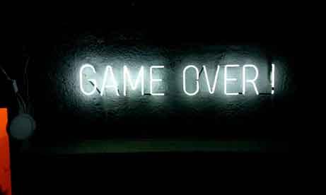 """Neon """"Game Over"""" для игрового клуба (миниатюра)"""