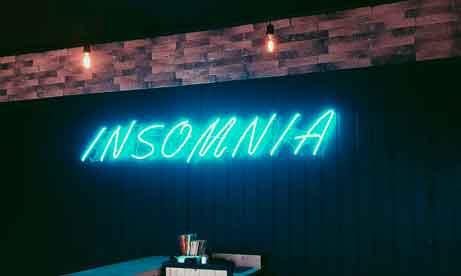 """Неоновая надпись """"Insomnia"""" для кофейни (миниатюра)"""