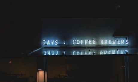 """Неоновая вывеска кофейни """"Jays : Coffee Brewers"""" (миниатюра)"""
