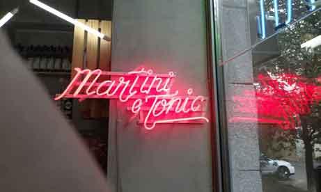 """Neon """"Martini e Tonic"""" в """"Цветочная Мафия BAR"""" (миниатюра)"""