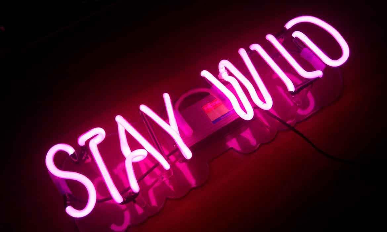 """Неоновая вывеска """"Stay Wild"""" (1)"""