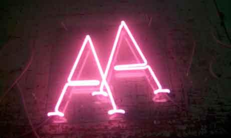 """Неоновые буквы """"AA"""" для свадьбы (миниатюра)"""