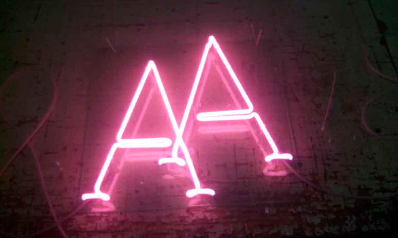 """Неоновые буквы """"AA"""" для свадьбы"""