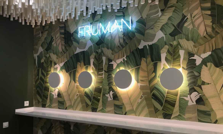 """Неоновые буквы """"FRUMAN"""""""