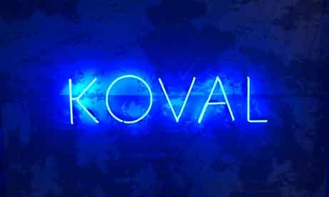 """Неоновые буквы для дома """"KOVAL"""" (миниатюра)"""