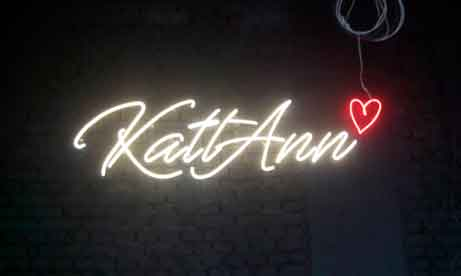 """Неоновые надписи для салона красоты """"KattAnn Beauty Space"""" (миниатюра)"""