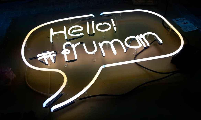 """Неоновые надписи """"Hello! #fruman"""" (1)"""