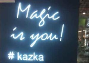 """Неоновые буквы """"Magic is you! #kazka"""" для ювелирного магазина """"KAZKA"""" (миниатюра)"""