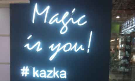 "Неоновые буквы ""Magic is you! #kazka"" для ювелирного магазина ""KAZKA"" (миниатюра)"