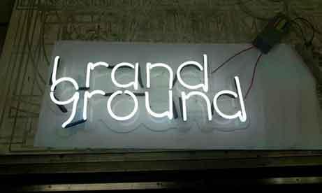 """Неоновый логотип """"Brandground"""" (миниатюра)"""
