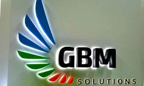 """Буква реклама """"GBM Solutions"""" (миниатюра)"""