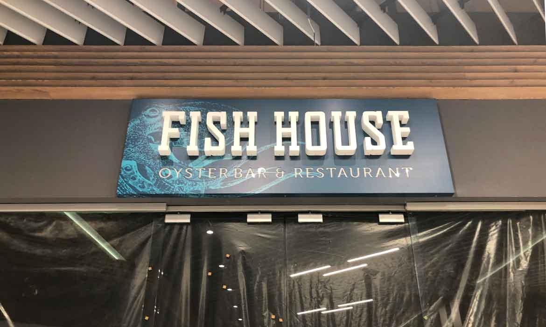 """Интерьерная световая вывеска """"Fish house"""""""