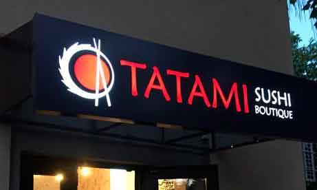 """Лайтбокс с прорезанными букваии """"Tatami"""" (миниатюра)"""