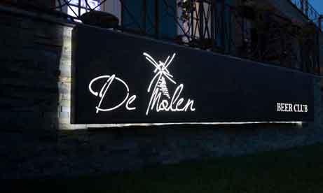 """Металлический лайтбокс с прорезанными буквами """"De Mulen"""" (вкл.) (миниатюра)"""