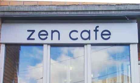 """Несветовые плоские буквы на основе """"zen cafe"""" (минитюра)"""