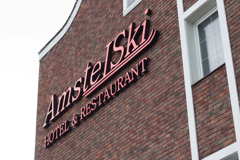 """Объемные световые буквы """"Amstel Ski"""""""