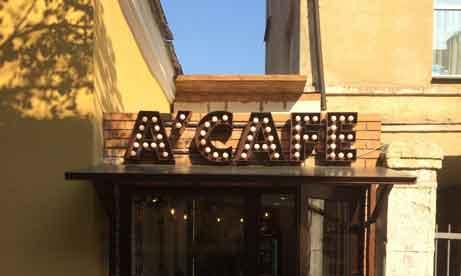"""Объемные буквы с лампами """"A'Cafe"""" (миниатюра)"""