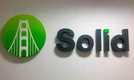 """Объемные буквы и лого для офиса """"Solid"""" (миниатюра)"""