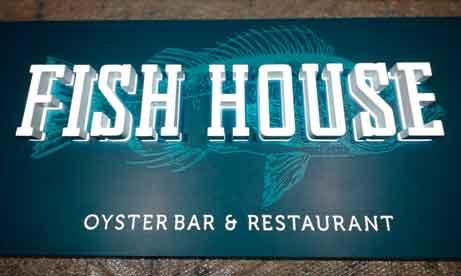 """Фасадные и интерьерные световые вывески """"Fish house"""" (миниатюра)"""